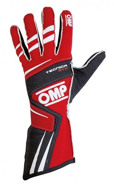 OMP Handschuh Tecnica Evo - rot / schwarz