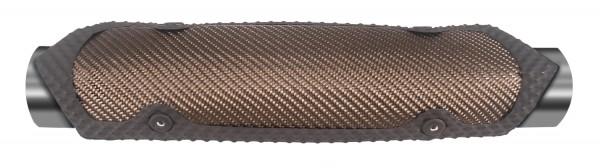Thermo Tec Rogue Clamp-On Rohr-Hitzeschutz (9.5 cm x 14.6 cm) - Carbon Optik