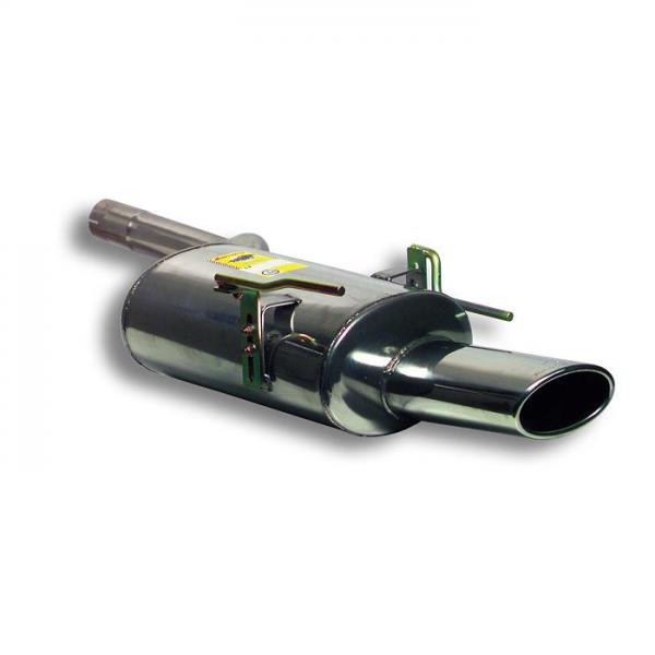 Supersprint Endschalldämpfer 145x95 für MERCEDES W208 CLK 200 Kompressor (163 PS) Cabrio 00- 02