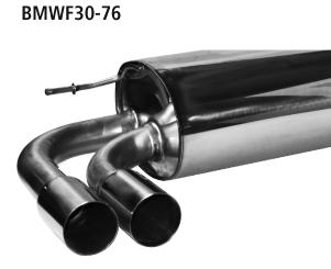 Bastuck Endschalldämpfer mit Doppel-Endrohr 2x Ø 76 mm für BMW 4er F32/F33/F36 2.0l Turbo Facelift ab Bj. 2015-