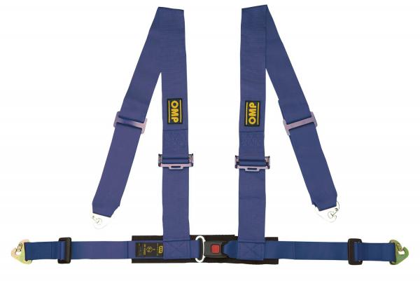 OMP 4-Punkt Sportgurt mit ECE-Zulassung - blau