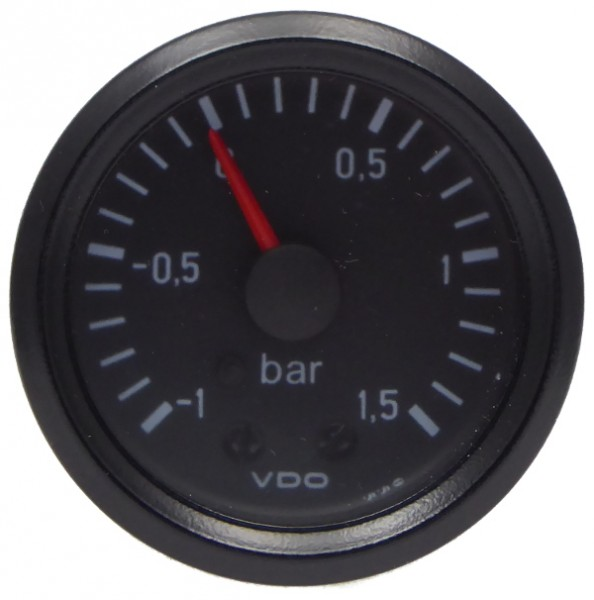 "VDO ""international"" Ladedruckanzeige 24V d=52mm -1.0 - +1.5 bar"