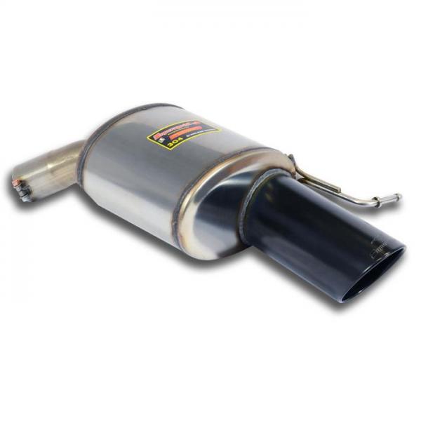 Supersprint Endschalldämpfer Rechts Black O120 für RANGE ROVER SPORT 5.0i V8 Supercharged (510 PS) 2014-