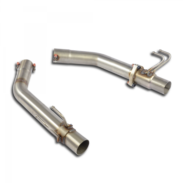 Supersprint Mittelrohrsatz Recht + Link - Für elektrische Abgasklappe für HONDA CIVIC 2.0i Turbo TYPE-R (310PS) 2015-